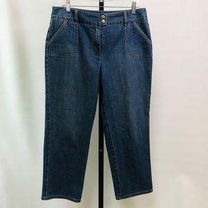 Talbots Cropped Stonewashed Jeans